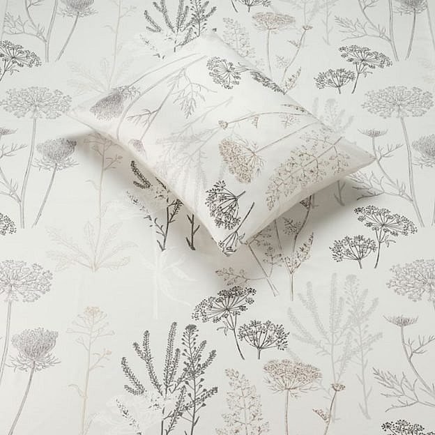 Kissenbezug Wiesenblume, silberfarben