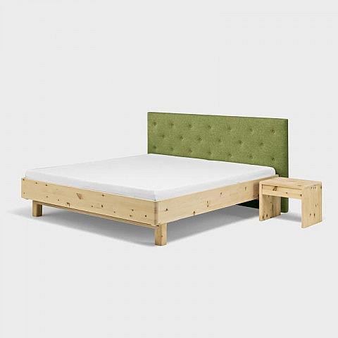 bett laura zirbe arve mit wollfilz kopfteil. Black Bedroom Furniture Sets. Home Design Ideas