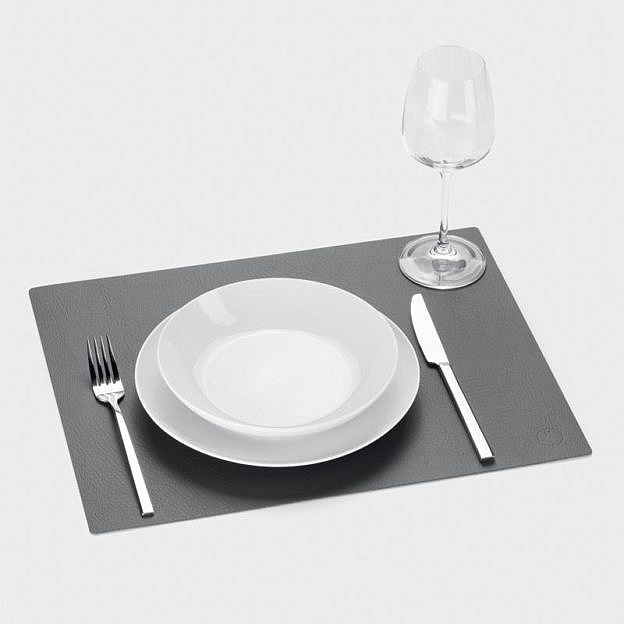 Tischset Recyclingleder square, 2er-Set