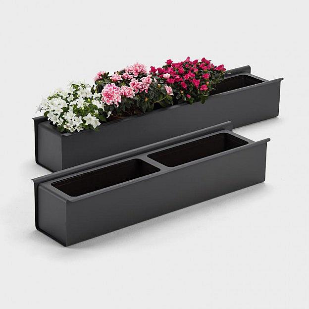 Aluminium-Blumenkasten anthrazit