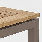 Gartentisch Palma, Aluminium/Recyclingteakholz