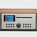 Musikcenter-Internet/DAB+/UKW-Radio im Walnussholzgehäuse