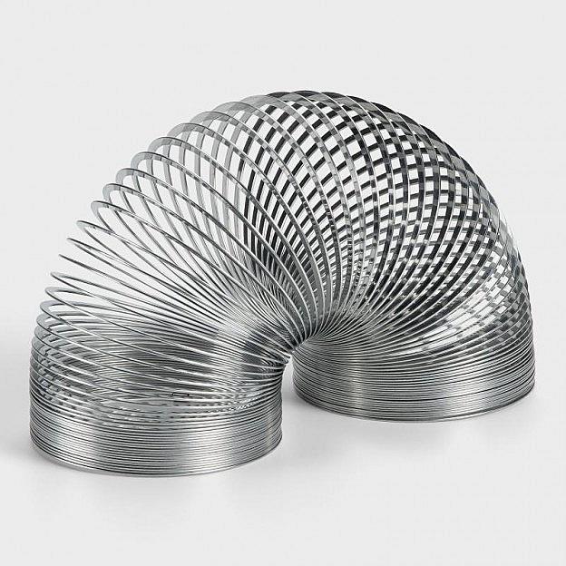 Original Slinky - Springfeder aus Stahl