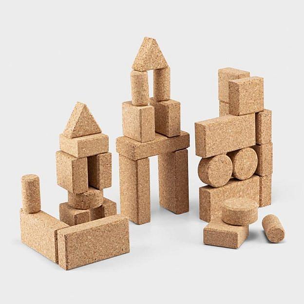 Konstruktionsspiel Kork, 30er-Set