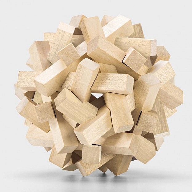 Holzpuzzle-Ball