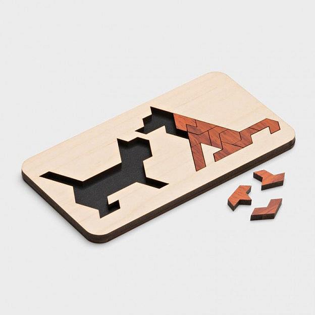 Legepuzzle Hund und Katz