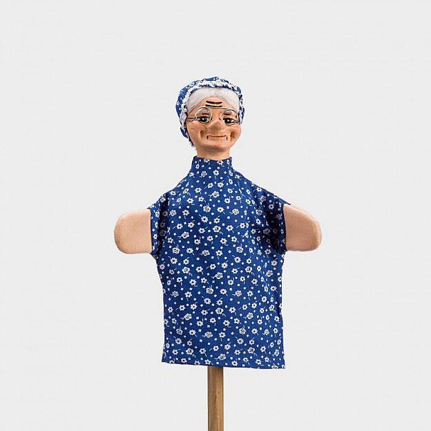 Handspielfigur Großmutter