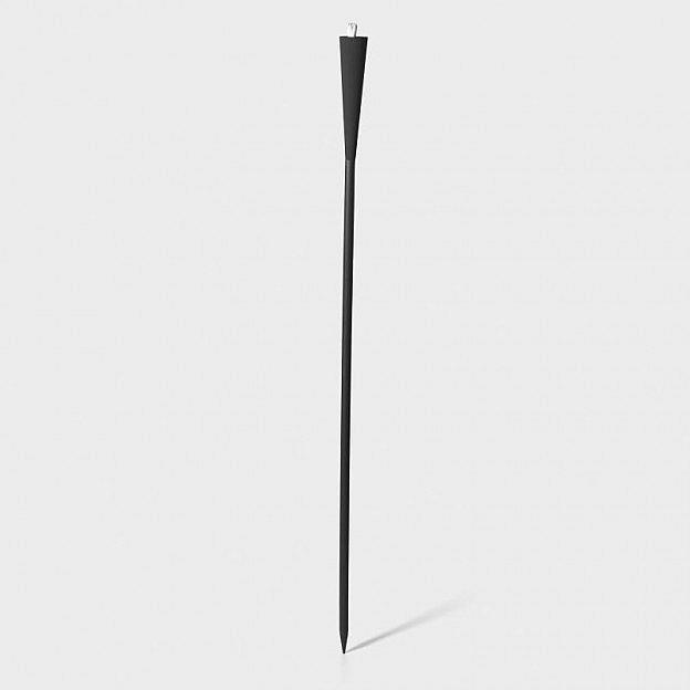 Gartenfackel Aluminium/Buche