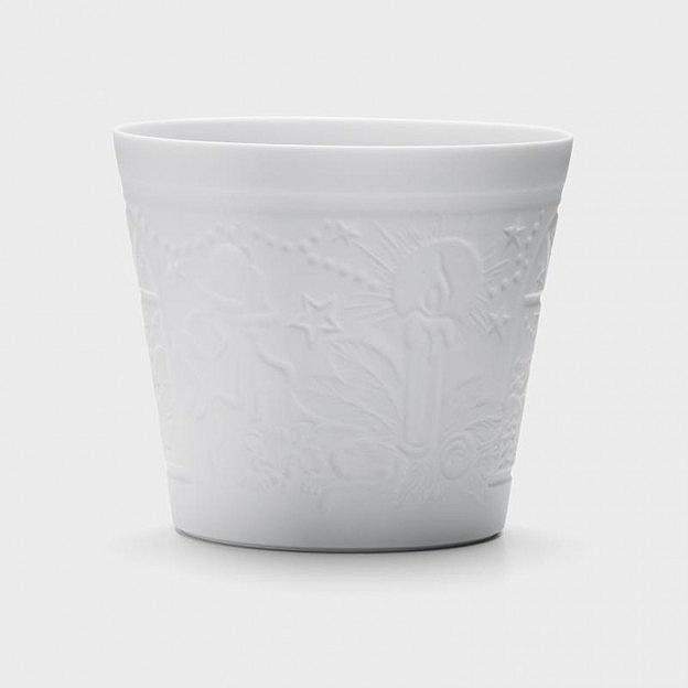 Teelichthalter Winterfester Porzellan