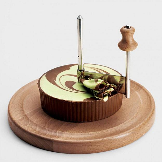 Schokoladen-Roulette Pistazie