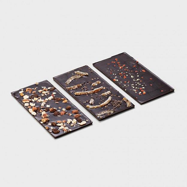Handgeschöpfte dunkle Schokoladen, 3er-Set