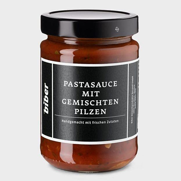 Pastasauce mit gemischten Pilzen