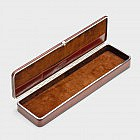 Schreibtischutensilienbox Rindsleder, whiskyfarben