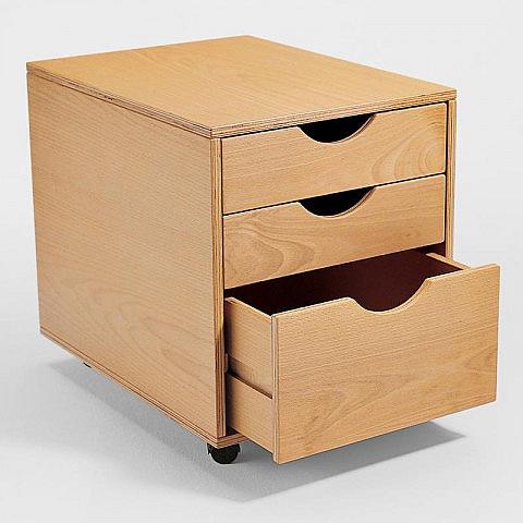 rollcontainer mit 3 schubladen biber umweltprodukte versand. Black Bedroom Furniture Sets. Home Design Ideas