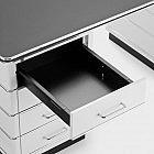 Schreibtisch Stahl, Hochglanzlackiert