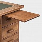 Schreibtisch Birke gebeizt