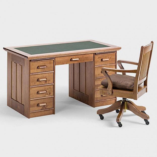 Schreibtisch birke gebeizt for Schreibtisch birke