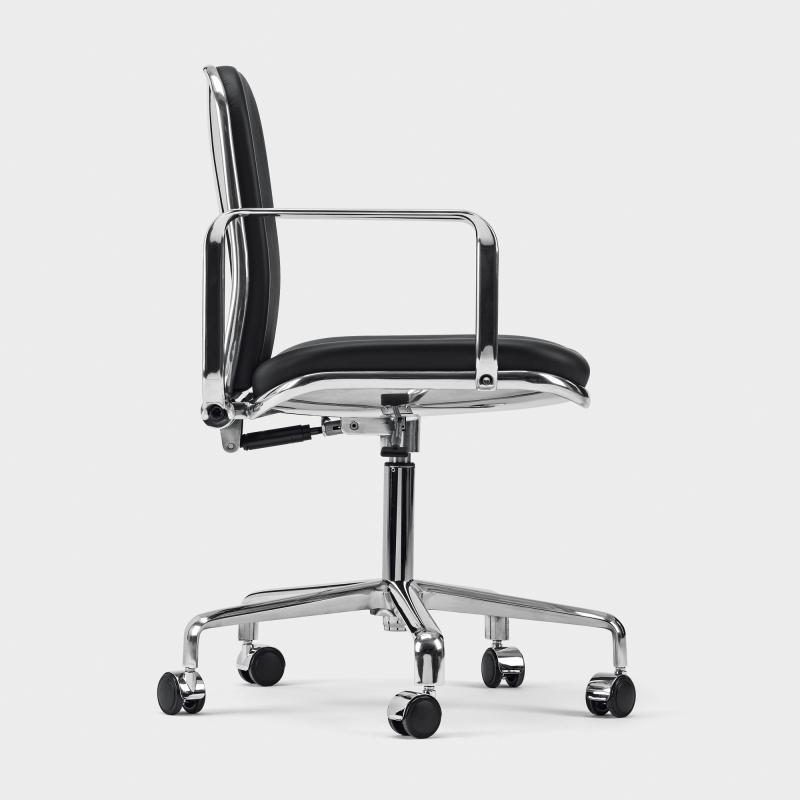 Bürosessel  Bürosessel Aluminium/Leder - Biber.com