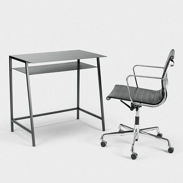 Schreibtisch Rohstahl