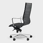 Ergonomischer Bürodrehstuhl Dian, schwarz Teppichboden-Rollen