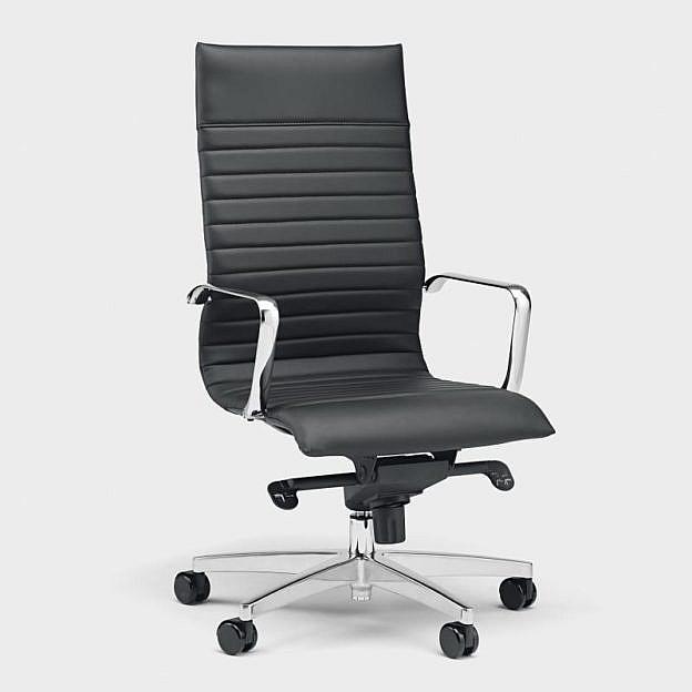 Ergonomischer Bürodrehstuhl Dian, schwarz Hartboden-Rollen