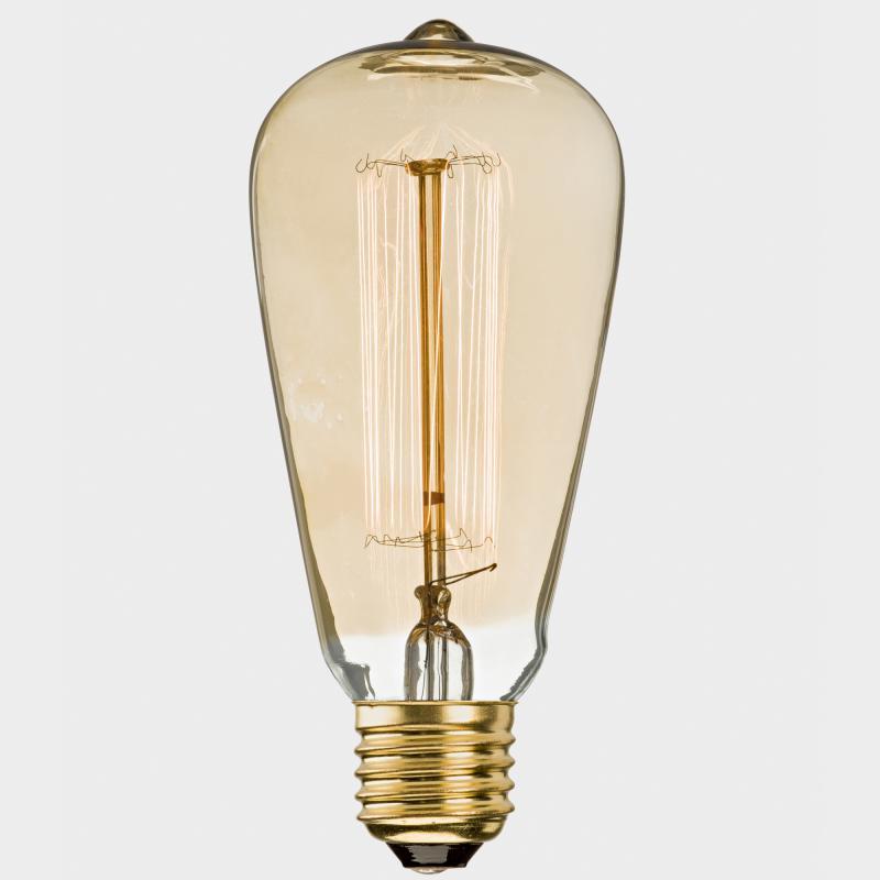 Glühbirne Deko deko metallfaden glühbirne rustika 60 w biber com