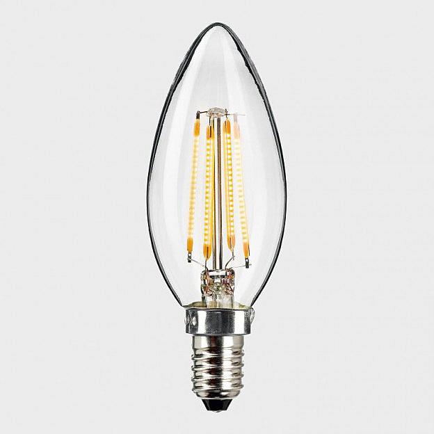 LED-Filament-Kerze klar (4 W = 33 W), dimmbar