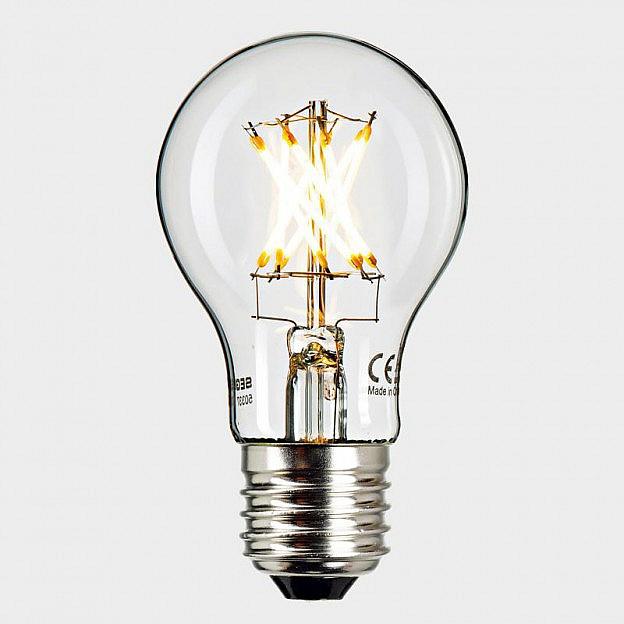 LED-Filament-Leuchtmittel klar (8 W=55 W), dimmbar