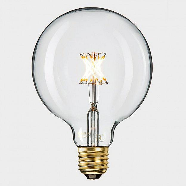 led filament globelampe klar 8 w 50 w dimmbar. Black Bedroom Furniture Sets. Home Design Ideas