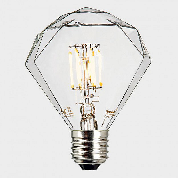 LED-Filament-Leuchtmittel Diamant, dimmbar