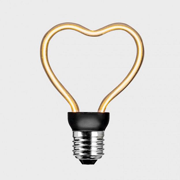 LED-Filament-Leuchtmittel Herz (8 W = 30 W), dimmbar