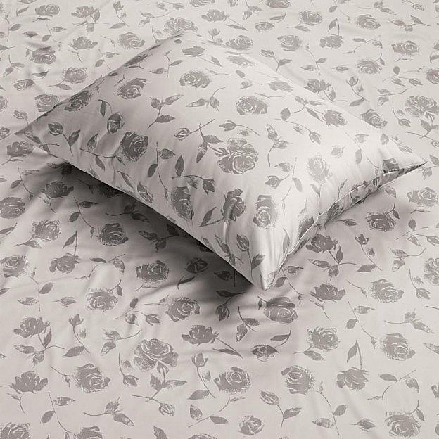 Bettbezug Rose, silber