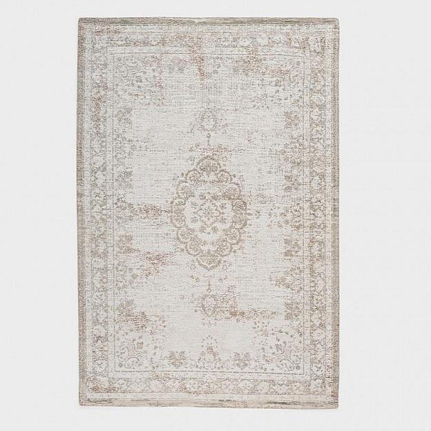 Vintage-Teppich klassisch, beige/weiß, 140 x 200 cm