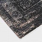 Vintage-Teppich klassisch, schwarz, 140 x 200 cm