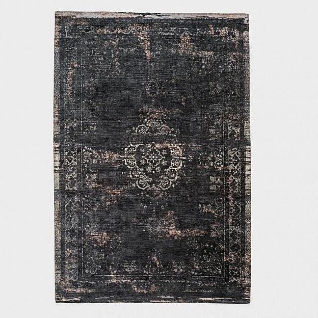 Vintage-Teppich klassisch, schwarz, 200 x 280 cm