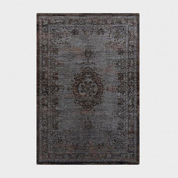 Vintage-Teppich klassisch, grau/braun, 140 x 200 cm