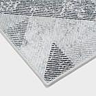 Vintage-Teppich geometrisch, grau, 170 x 240 cm