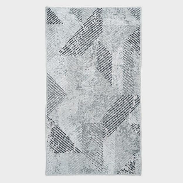 Vintage-Teppich geometrisch, grau, 250 x 350 cm