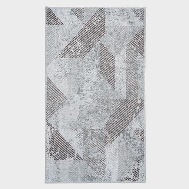 Vintage-Teppich geometrisch, braun, 85 x 150 cm