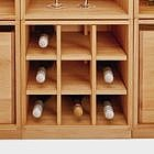 Weineinsatz für Stapelwürfel, Buche