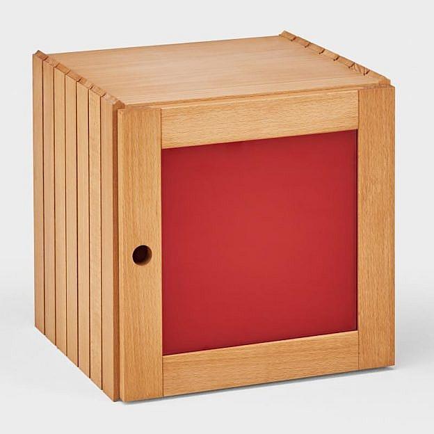 Türe zu Stapelwürfel, rot