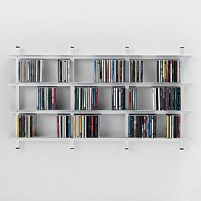 b cher dvd wandregal aluminium. Black Bedroom Furniture Sets. Home Design Ideas