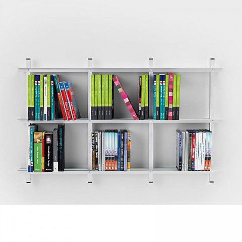 b cher dvd wandregal aluminium biber umweltprodukte versand. Black Bedroom Furniture Sets. Home Design Ideas