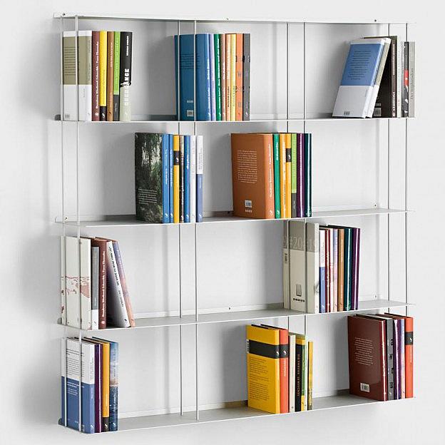 Wandbücherregal Aluminium 100 x 100 cm