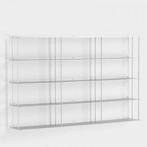 wand cd regal aluminium 100 x 60 cm. Black Bedroom Furniture Sets. Home Design Ideas