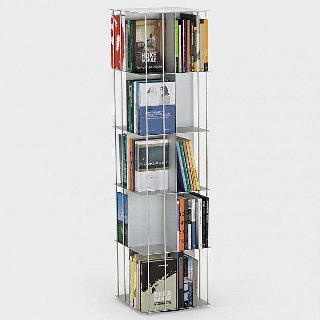 Bücherkarussell Aluminium
