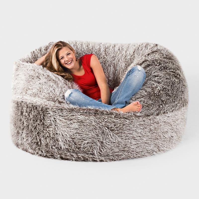 flokati sitzsack grijzemuren. Black Bedroom Furniture Sets. Home Design Ideas