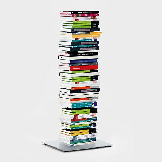 Bücherturm Stahl, 98 cm