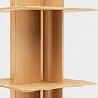 Drehbarer Bücherturm Quattro, Buche