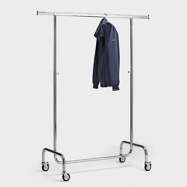 Mobiler Kleiderständer 100 cm, Stahl